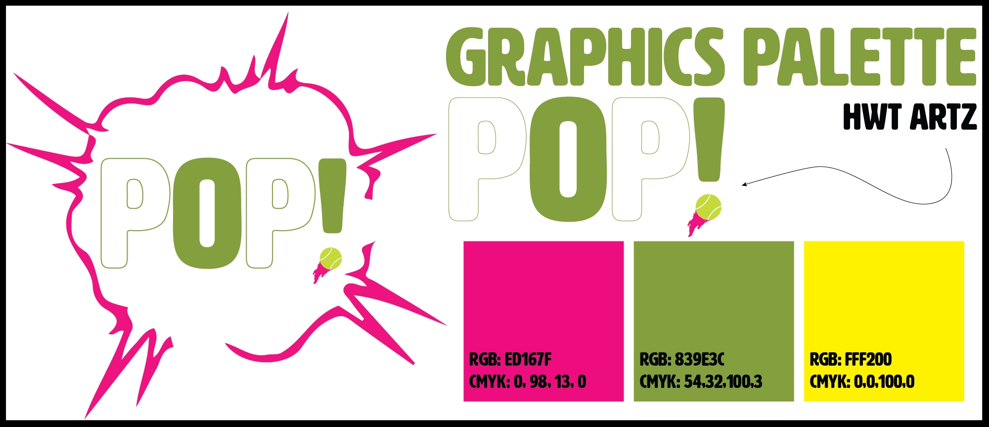 A mid-process design mock-up for the cover element of  POP!