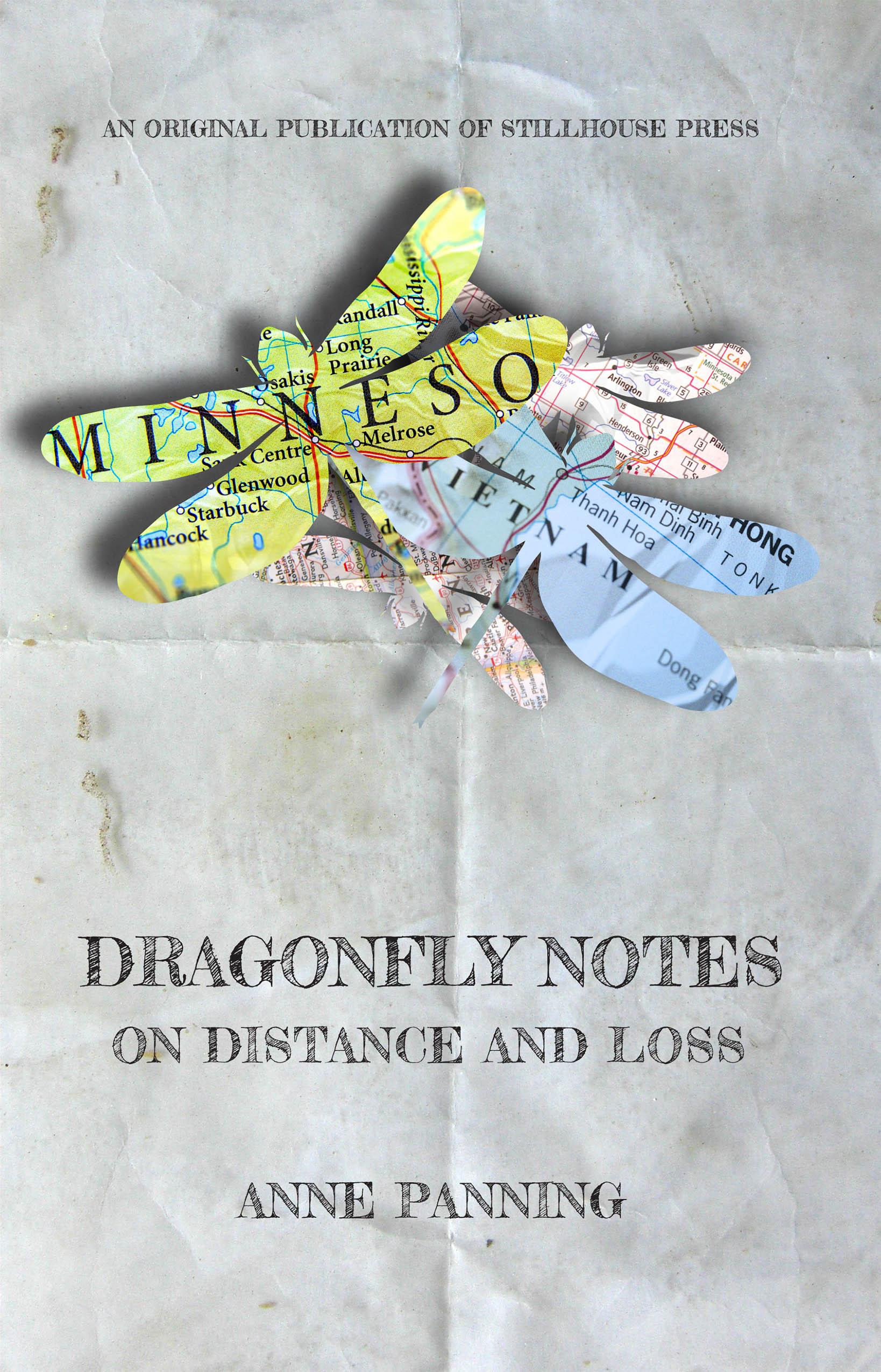 "Cover design by Luman for Anne Panning's ""Dragonfly Notes"" (Stillhouse Press, Sept. 2018)."