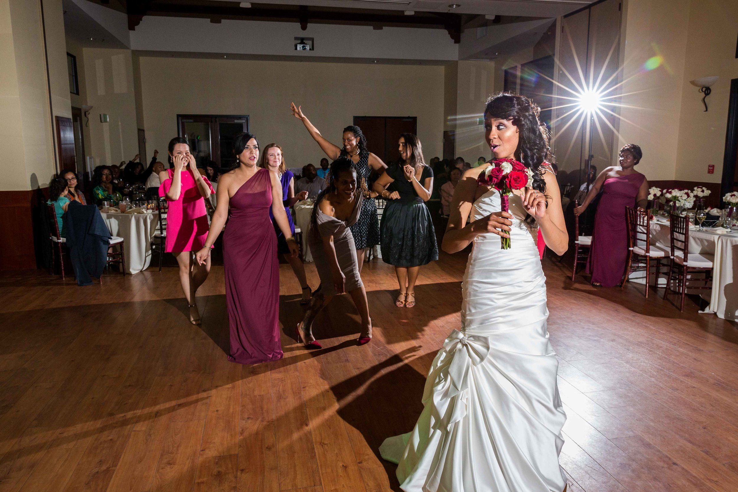 light. - Dark wedding venue or reception area? Don't worry, I bring professional lighting systems that will illuminate the scene.