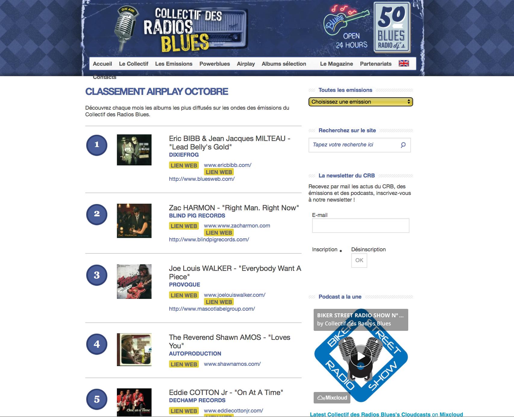 Rev Amos French Radio Chart