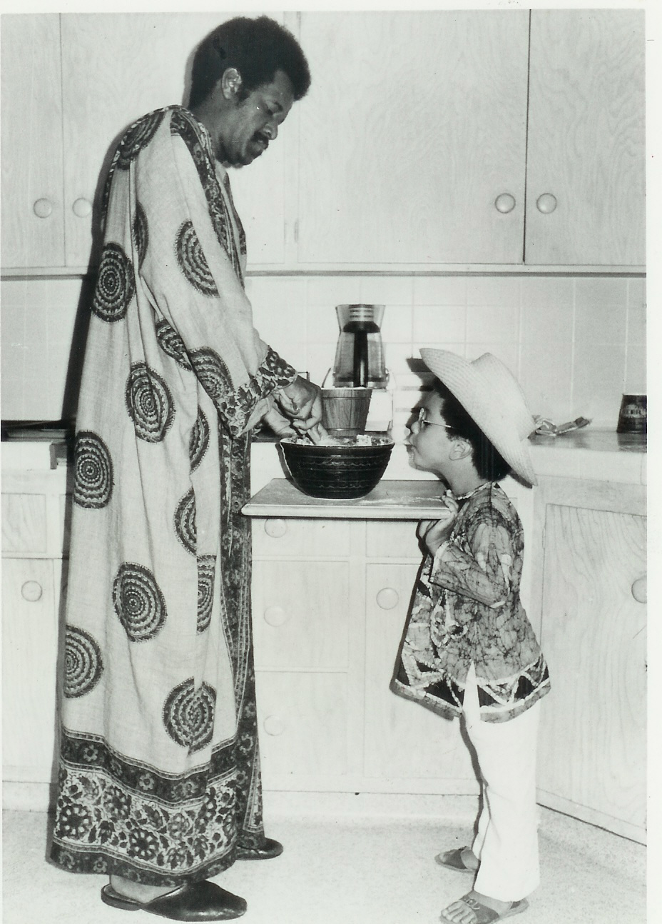 With father, wally amos, circa 1970s