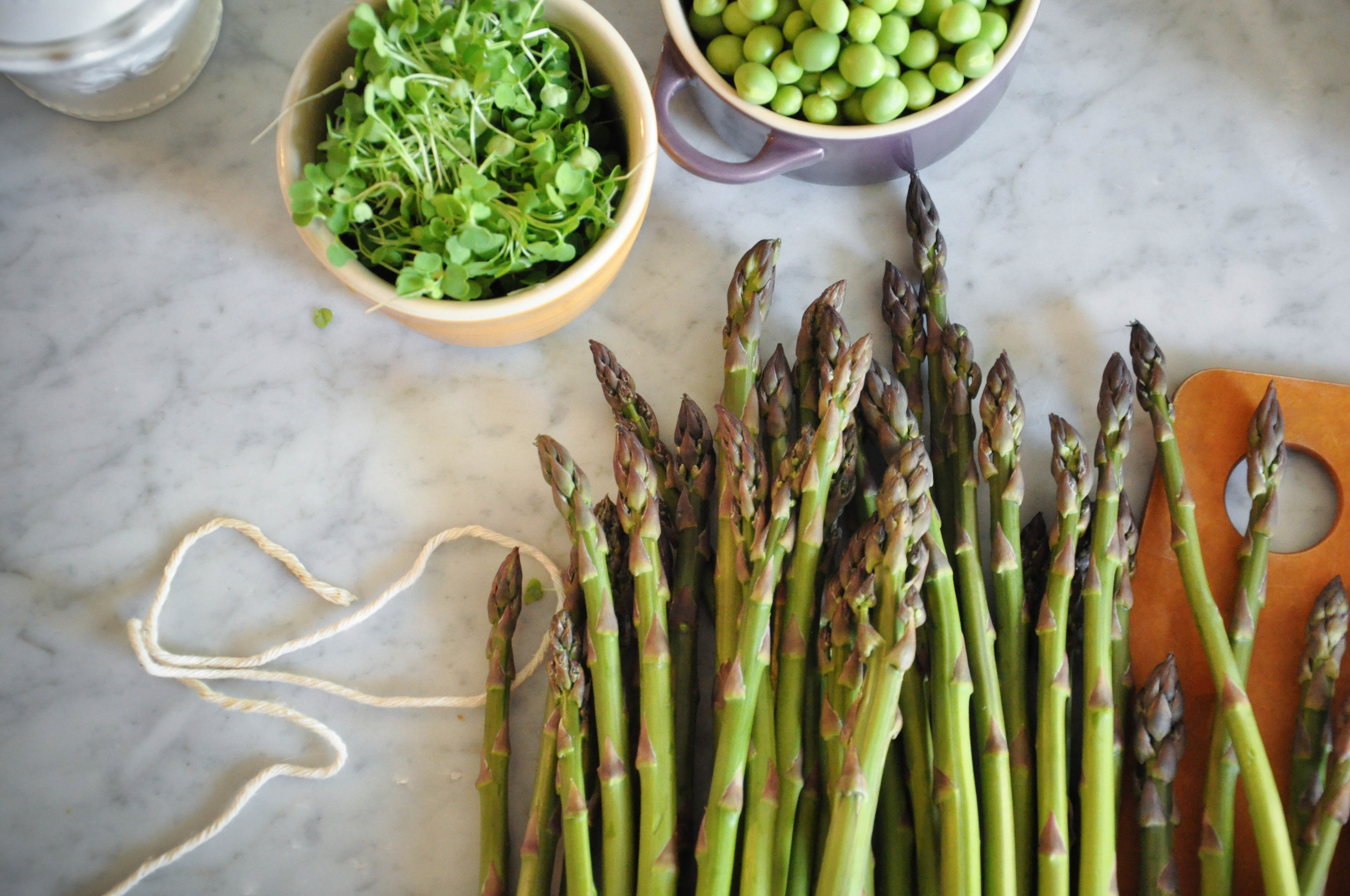 Spring Pea & Asparagus Salad with Crisped Ramps | O&O Eats