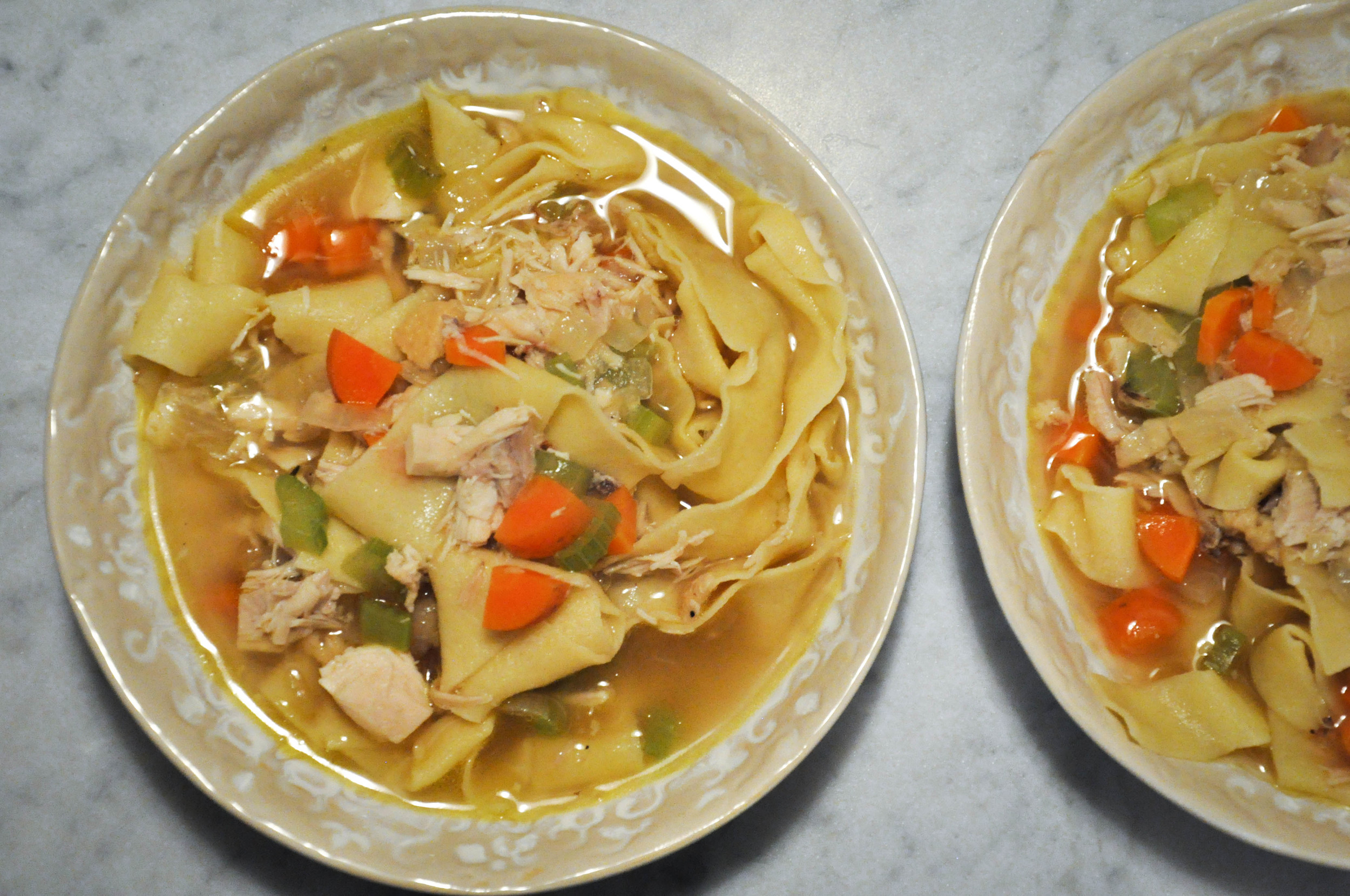 Chicken Noodle Soup: Part III, Putting It All Together | O&O Eats