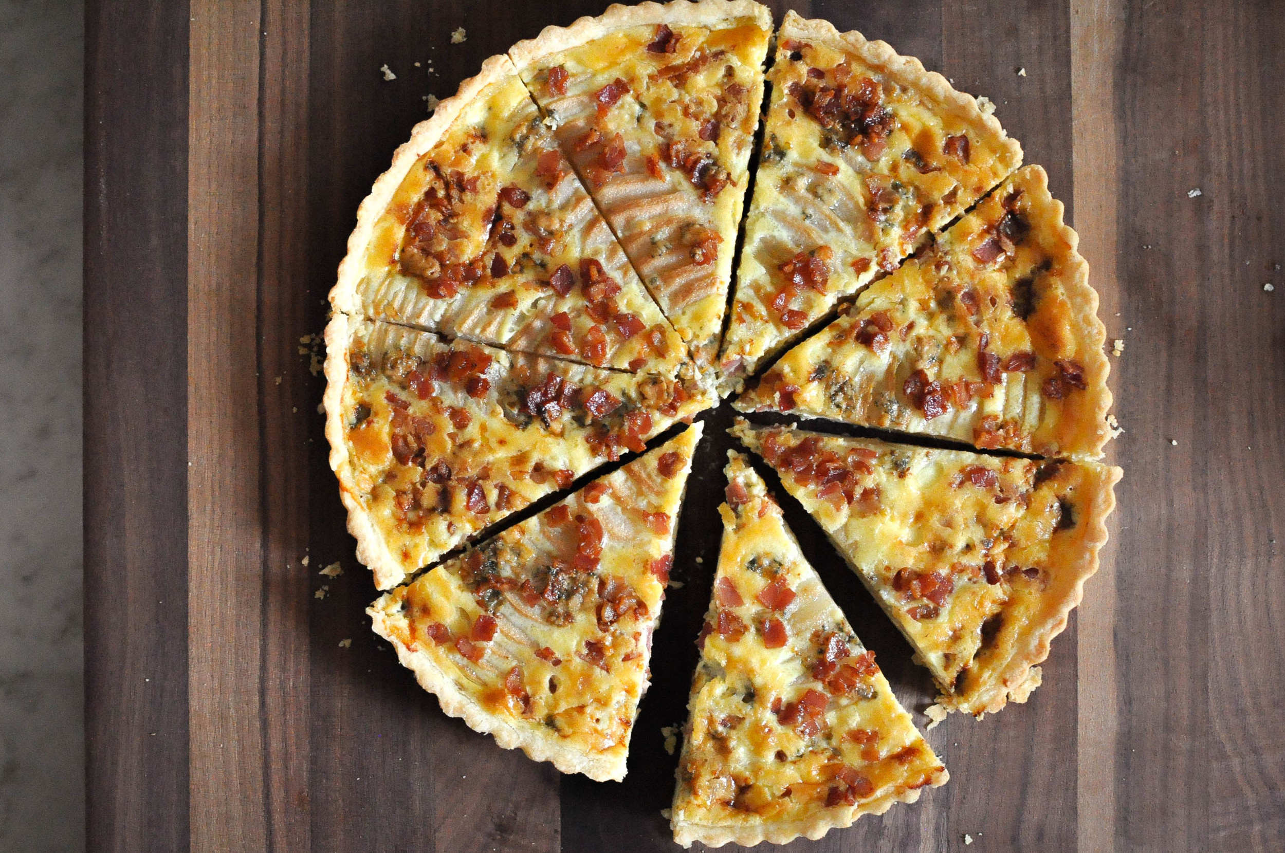 Savory Pear Tart with Blue Cheese & Pancetta | O&O Eats