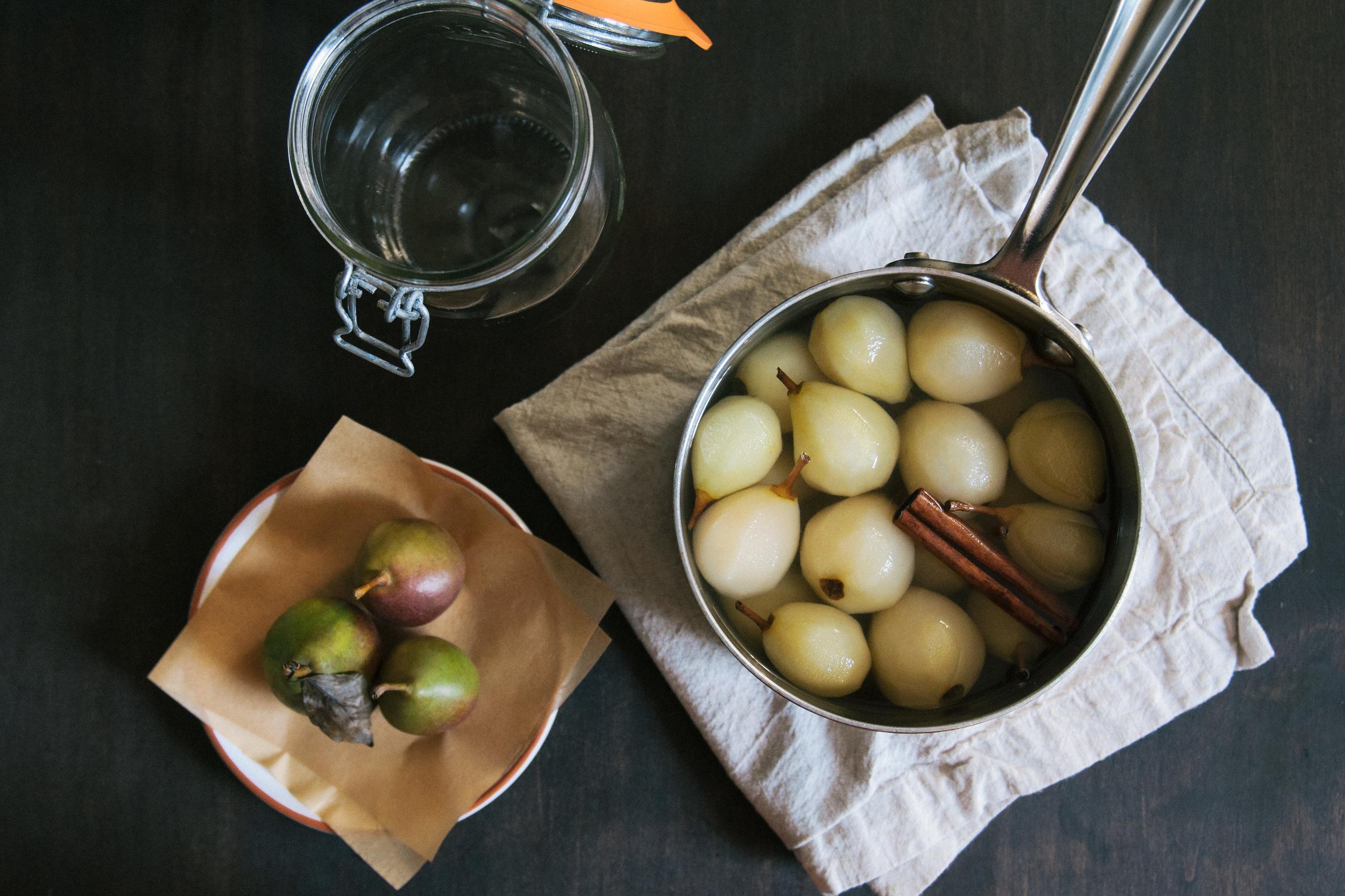 Poached Seckel Pears | O&O Eats