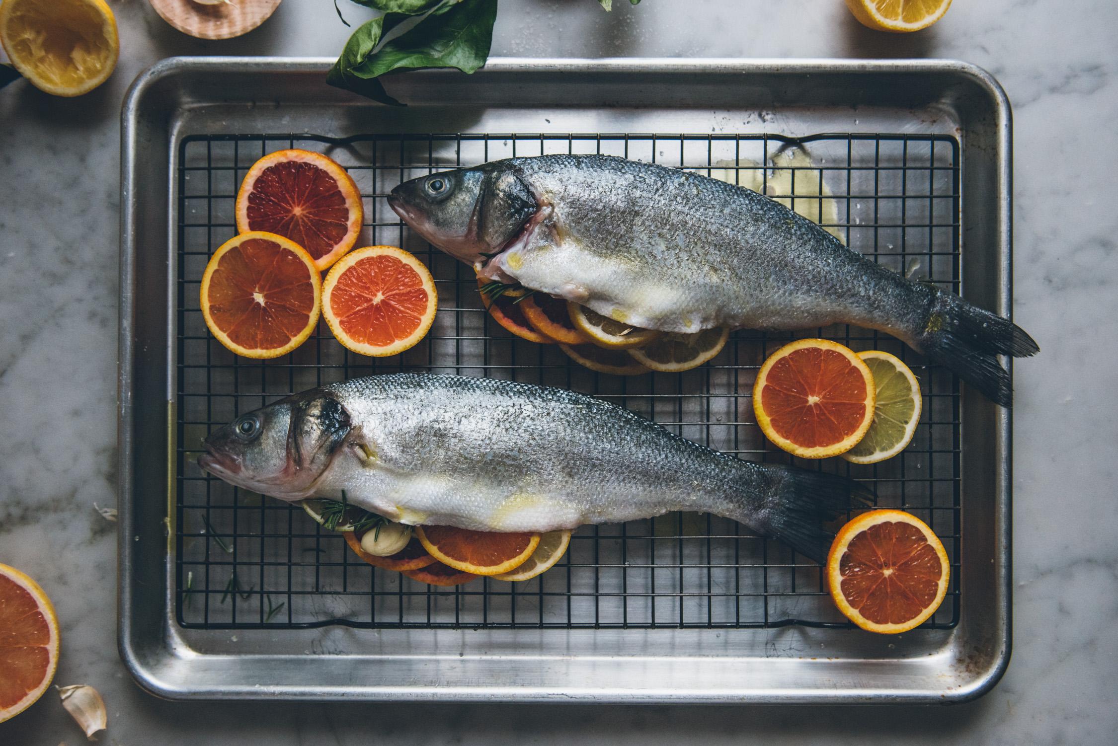 Citrus Stuffed Whole Roasted Fish | O&O Eats