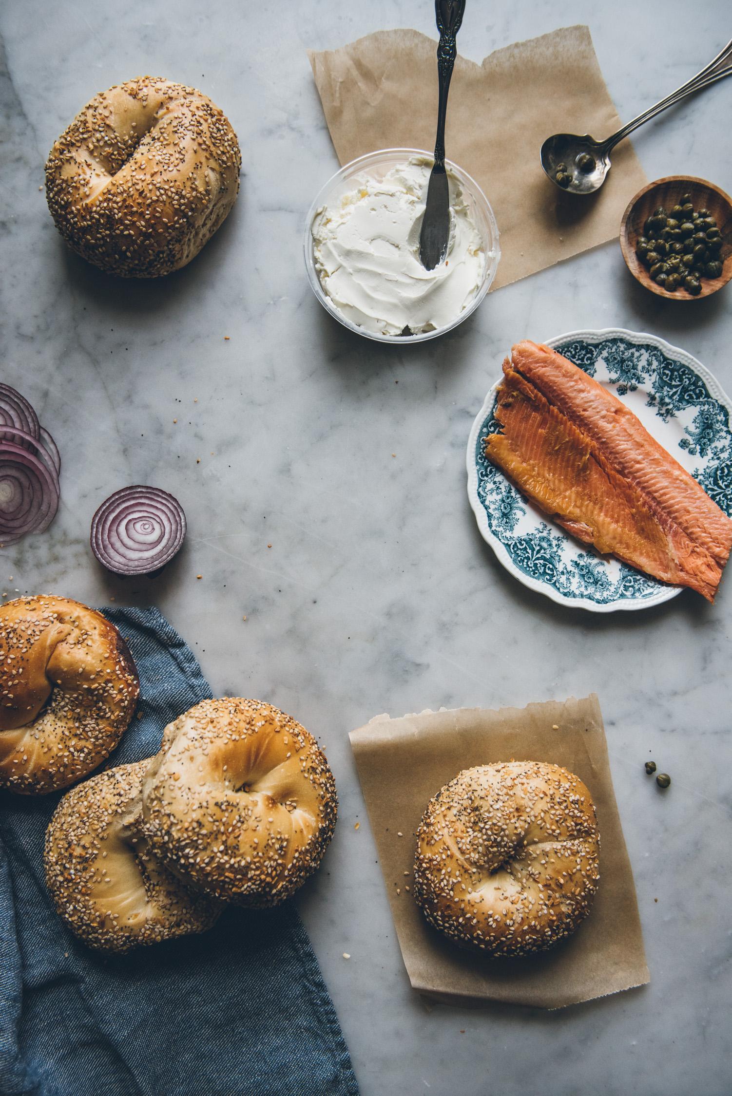 Smoked Trout Bagel | O&O Eats