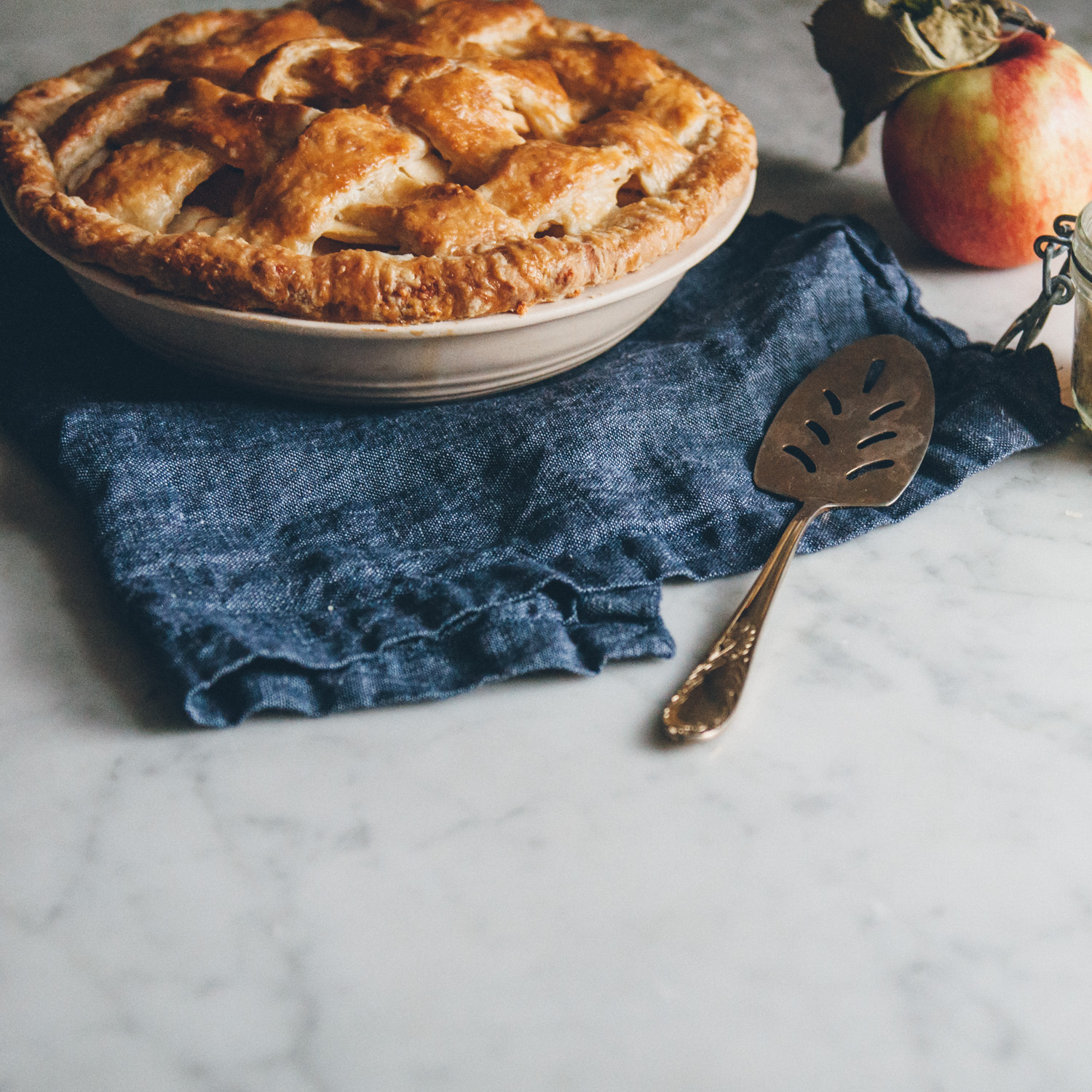 Apple Pie with a Cheddar Cheese Crust