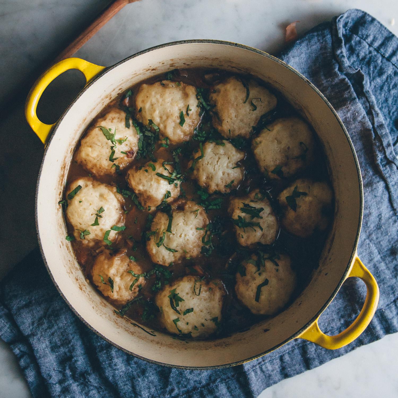 Mushroom, Chestnut, & Dumpling Soup
