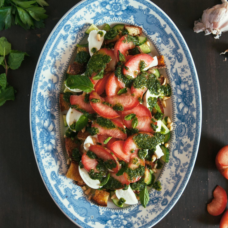 Mozzarella & Pluot Salad
