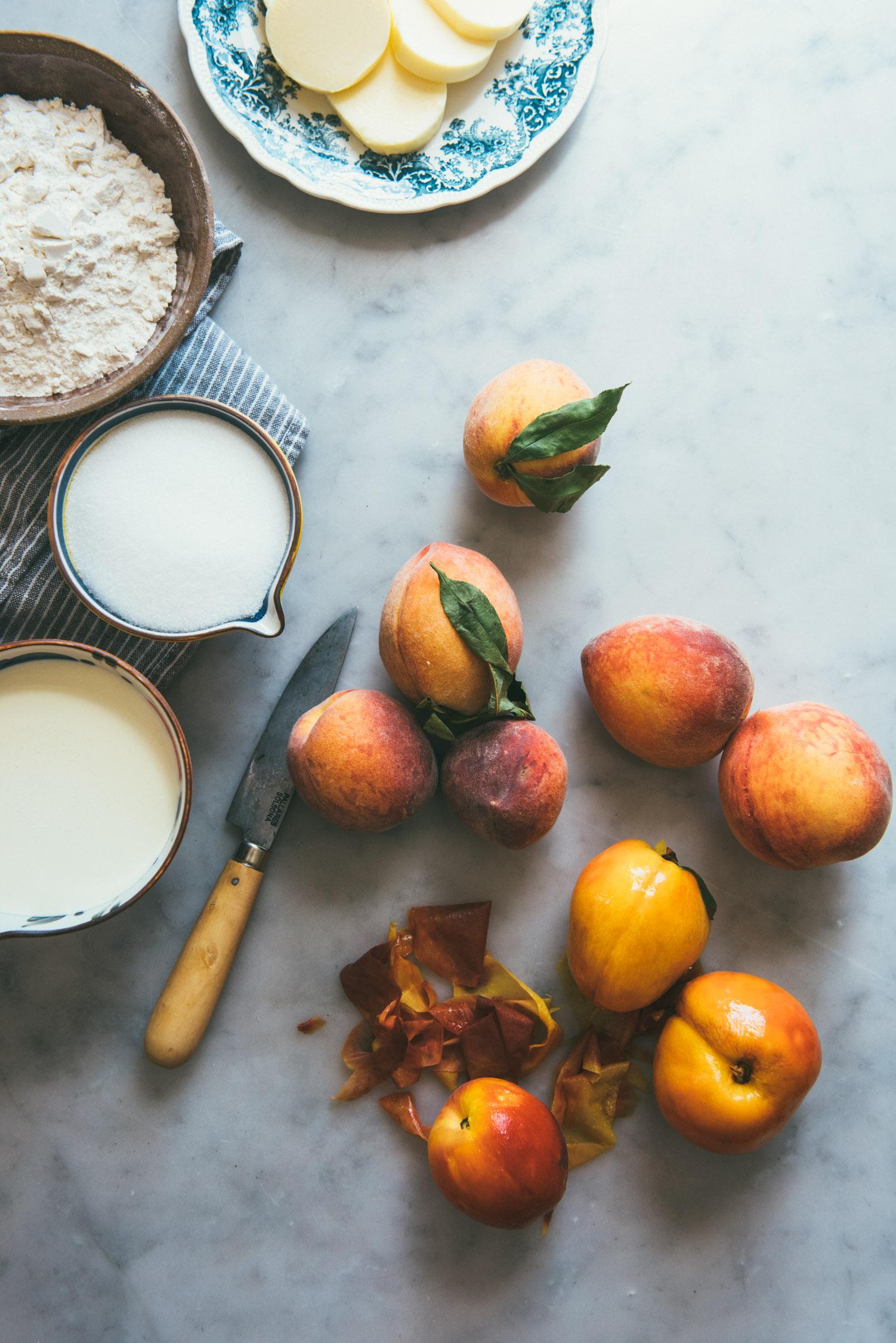 Brown Butter Peach Ice Cream Cake