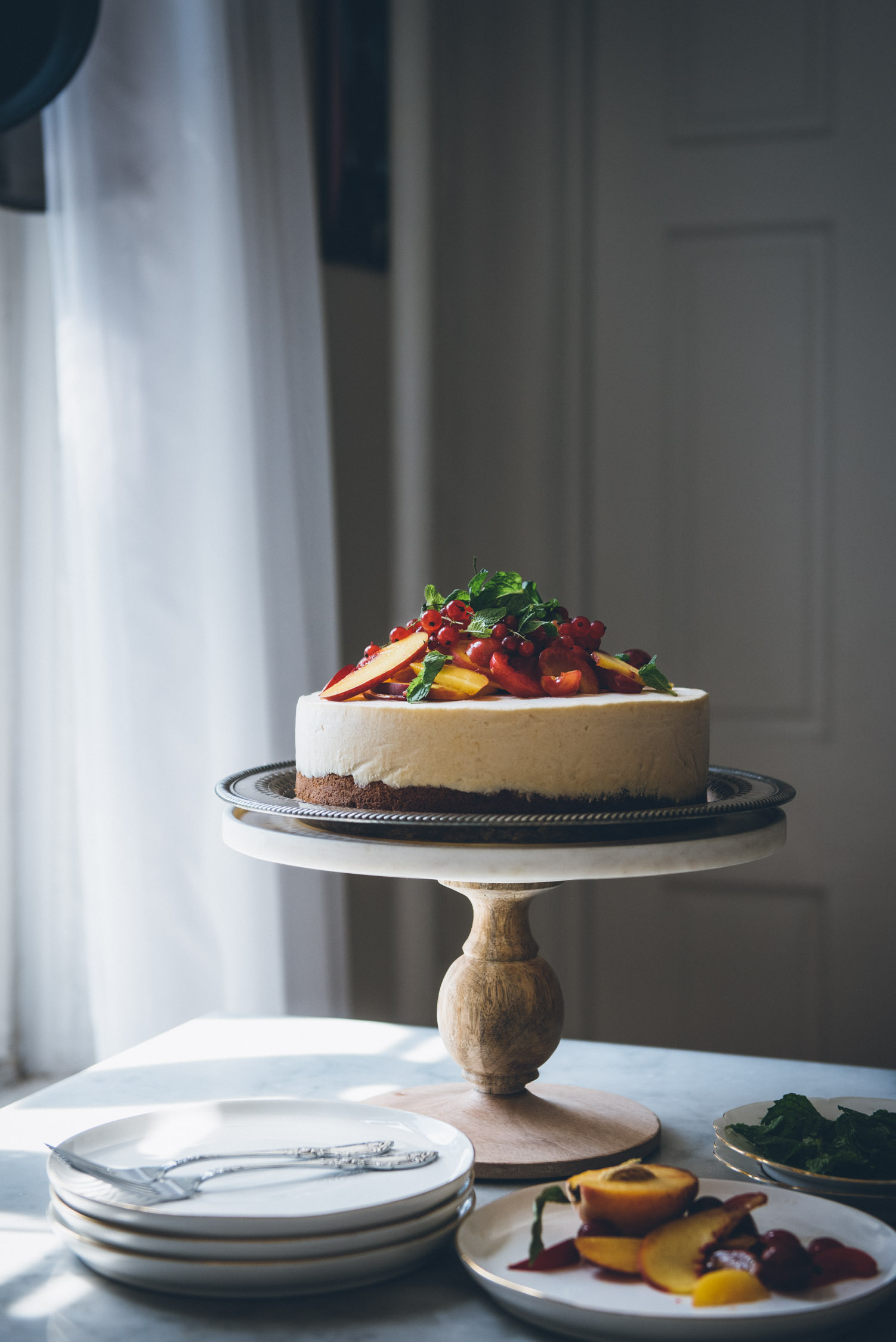 Brown Butter Peach Ice Cream Cake