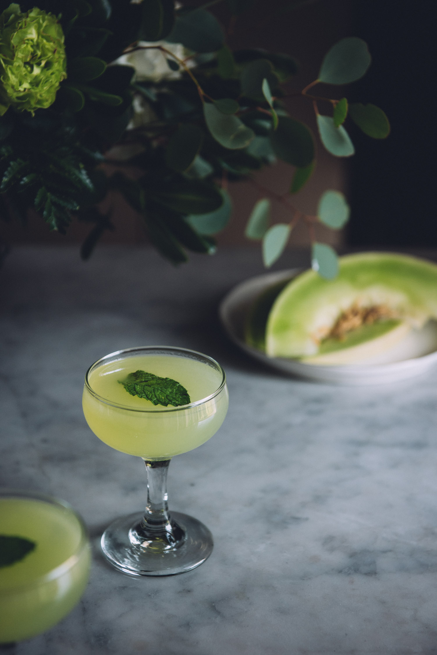 The Long Hope: a Honeydew Cucumber Gin Cocktail