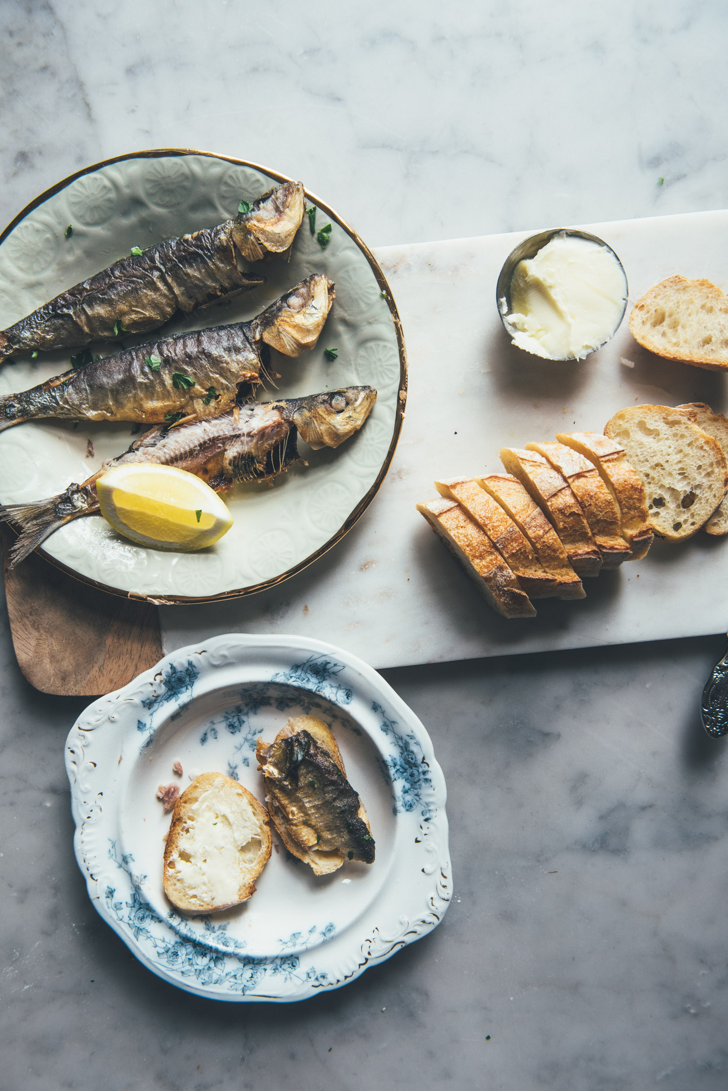 Sardines, Lightly Cured and Pan Fried
