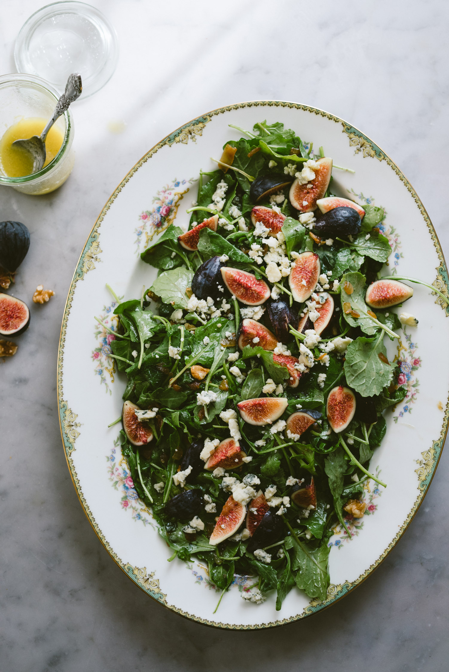 Fresh Fig, Blue Cheese, and Caramelized Onion Salad