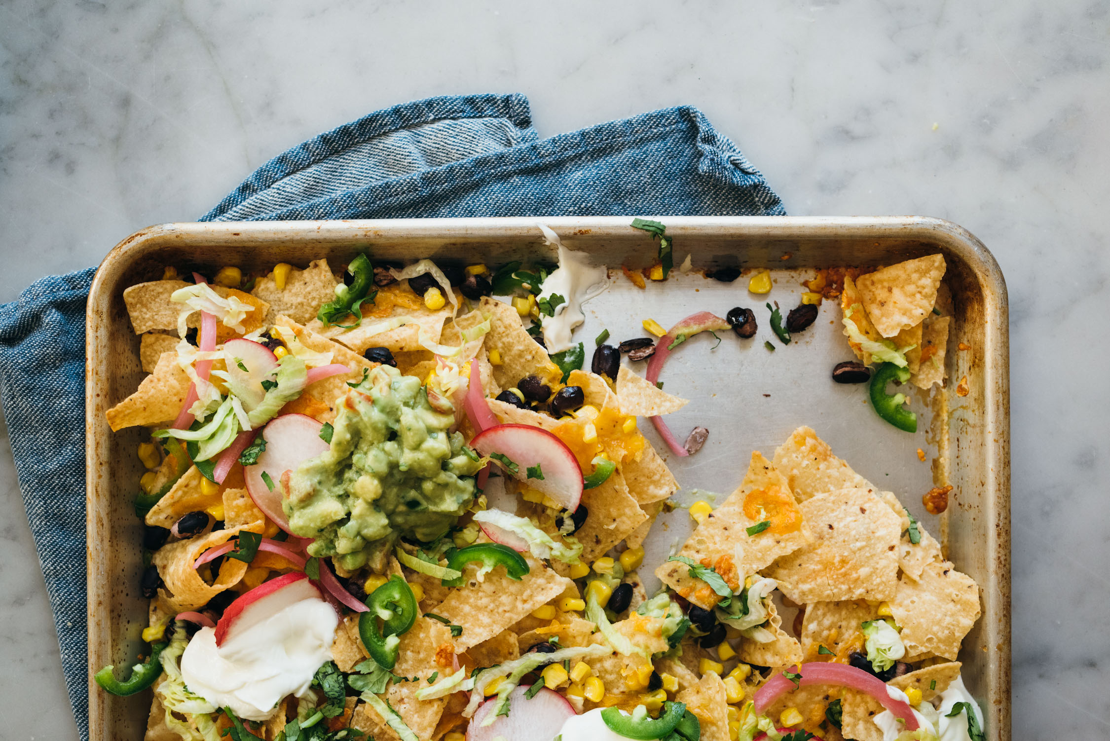 Vegetarian Loaded Nachos