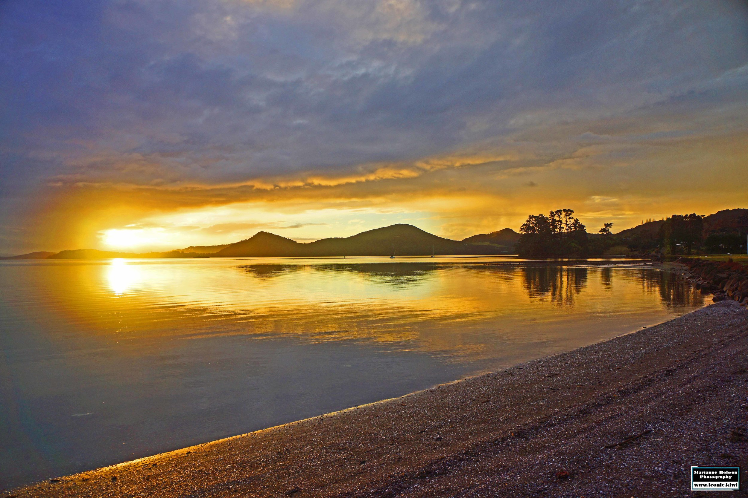 This sunset features in the 2015 calendar - March