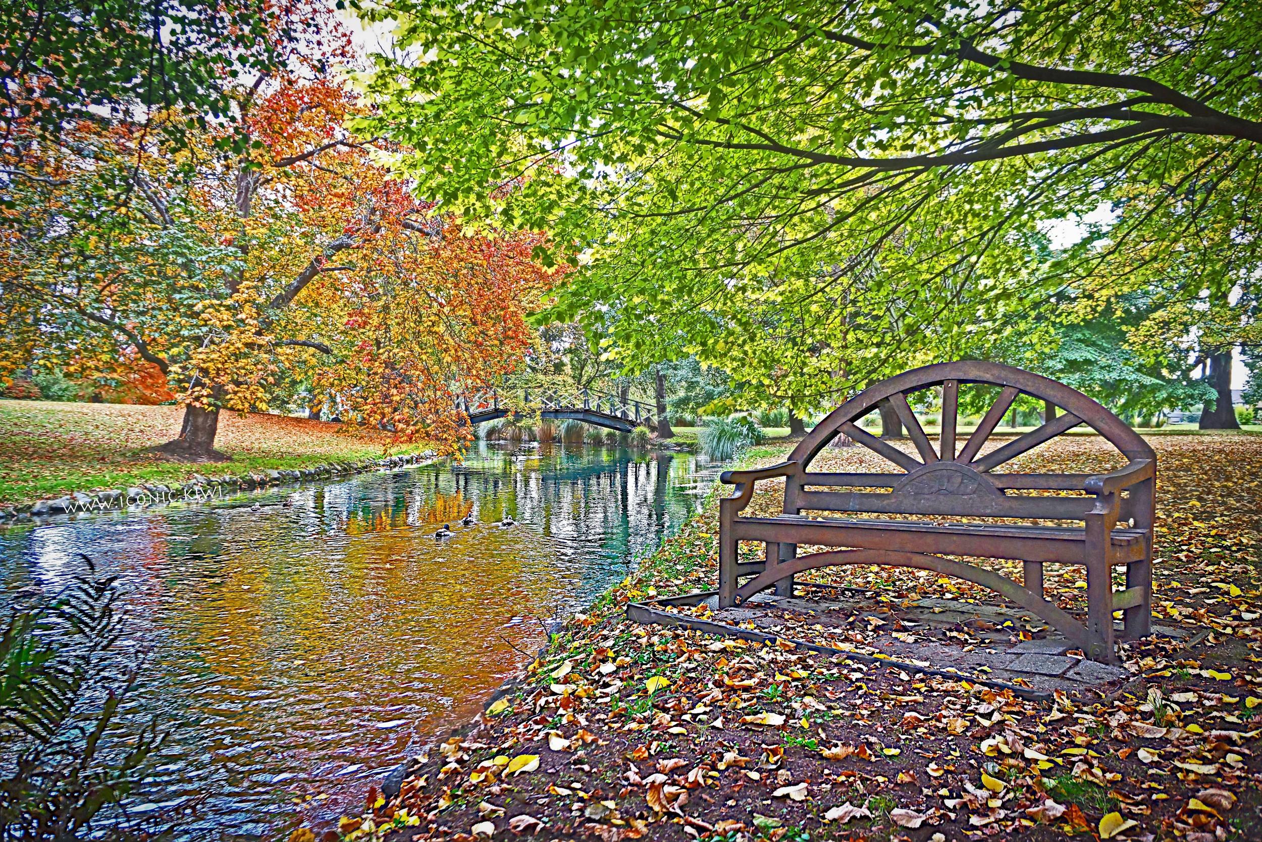 A tranquil autumn walk in Mona Vale park, Christchurch