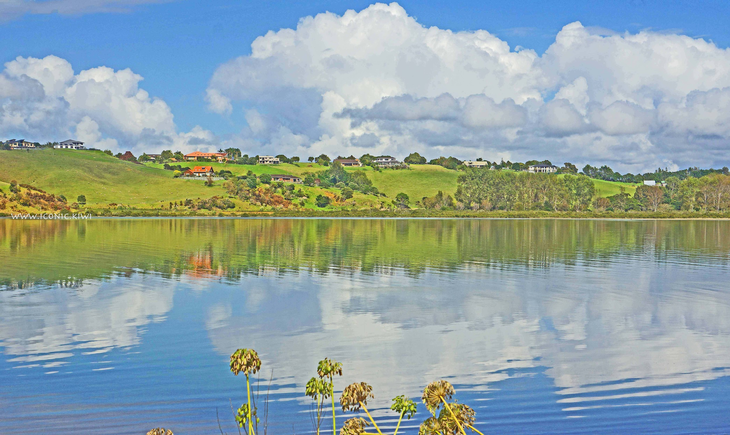 Cloud reflections, Whangarei Harbour, Northland