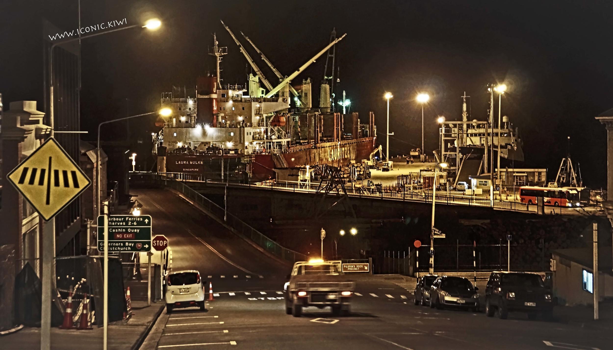 Lyttelton Port by night