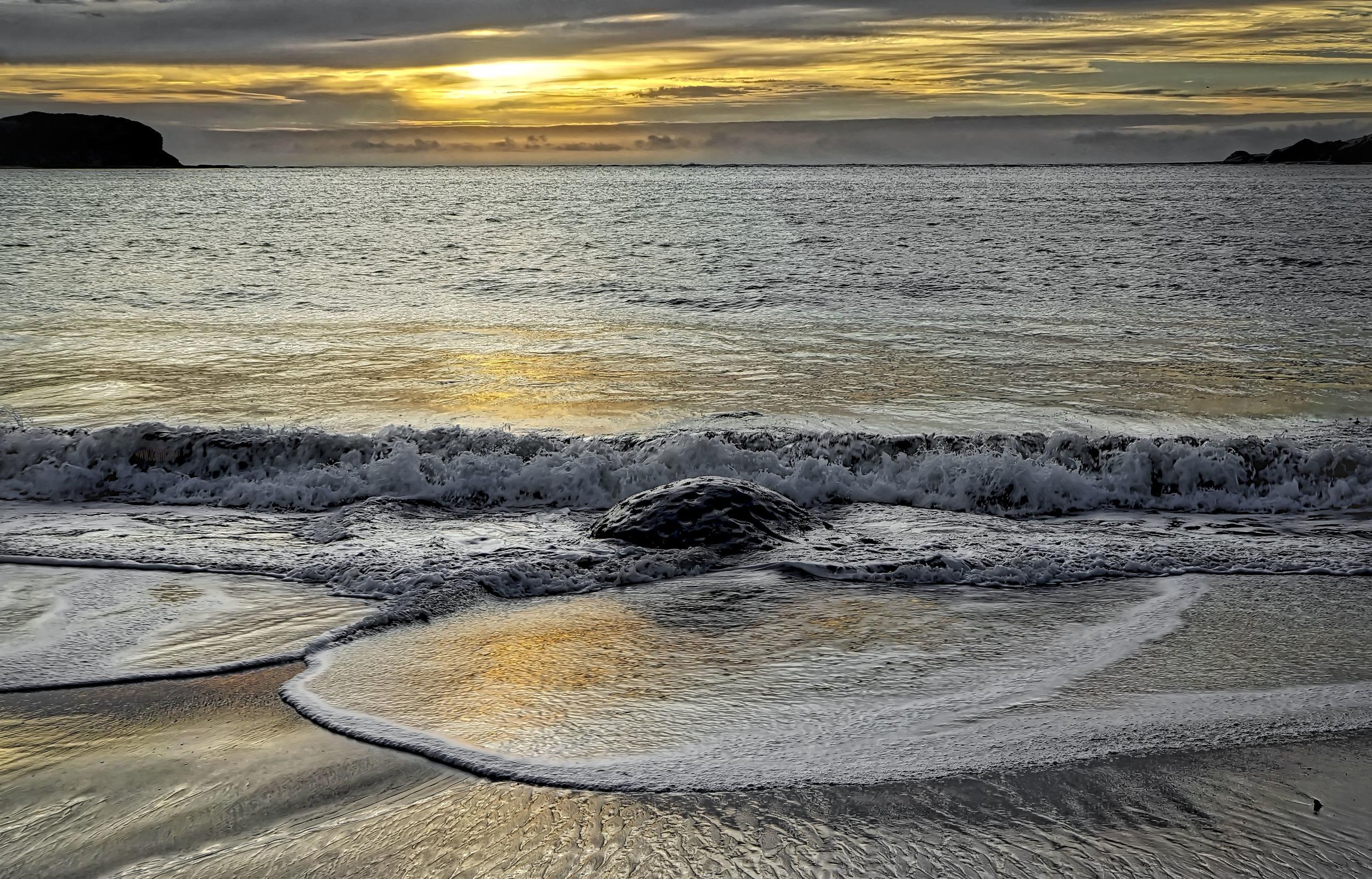 Omāpere beach sunset, Northland, New Zealand