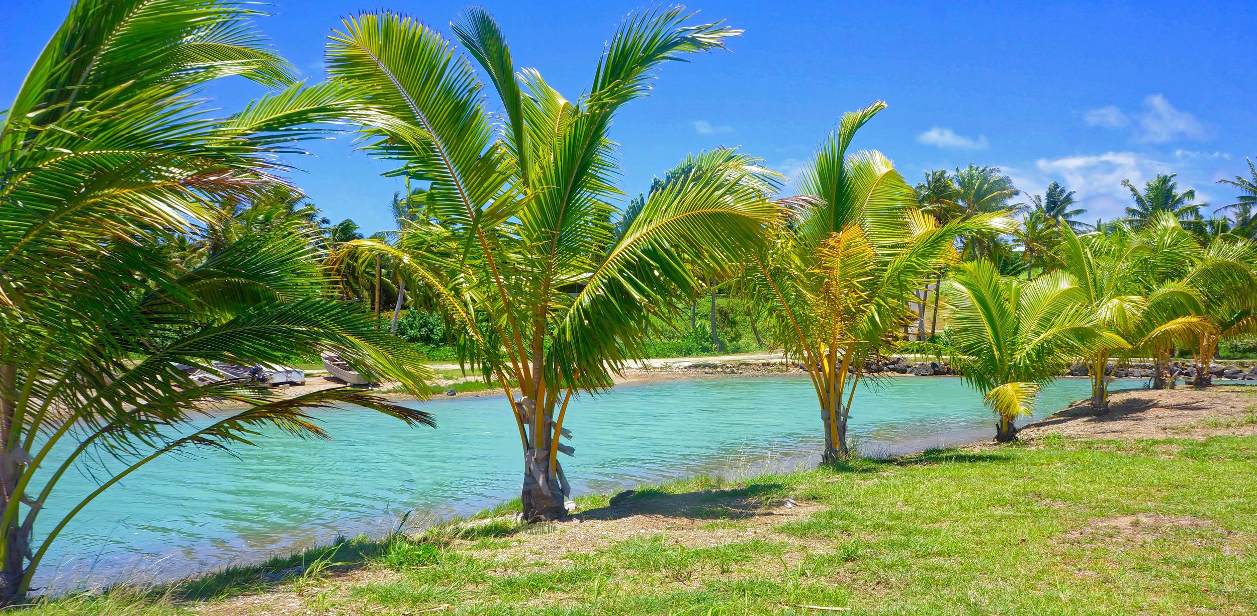 Natural pool, Aitutaki, Cook Islands