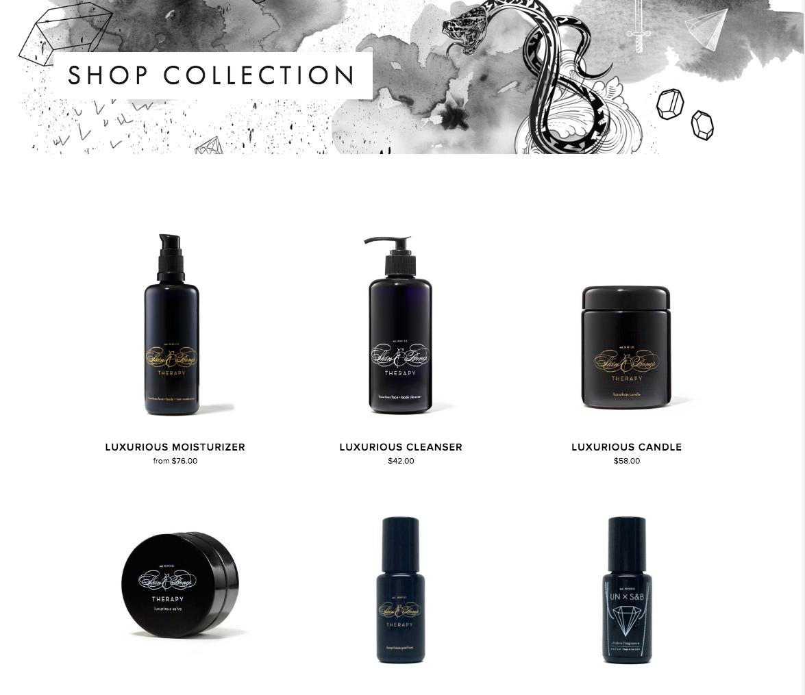 skin & bones retail page