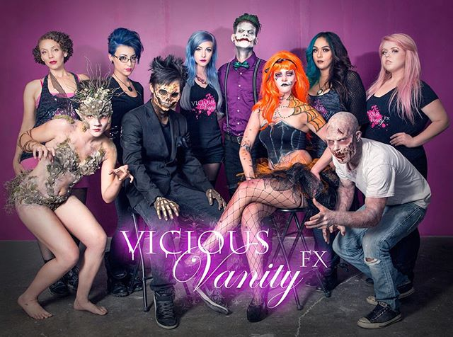 The Vicious Vanity Fx team! Who would like to see us at your home town conventions? Well grab on to your hats... somethings brewing. #viciousvanityfx