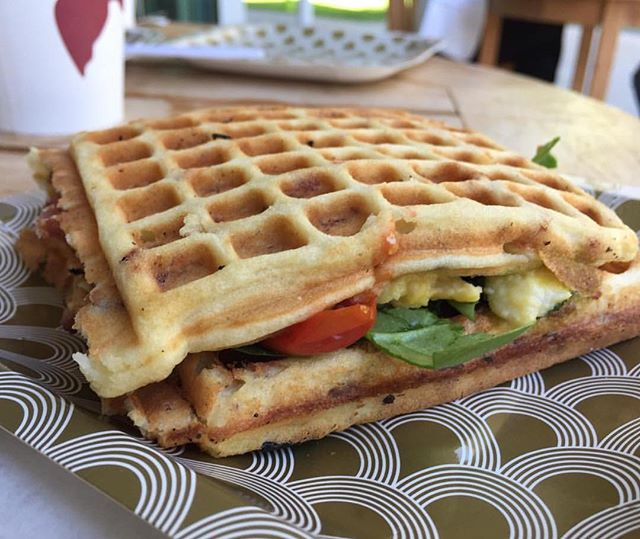 Everything is better between waffles @bexwaffles