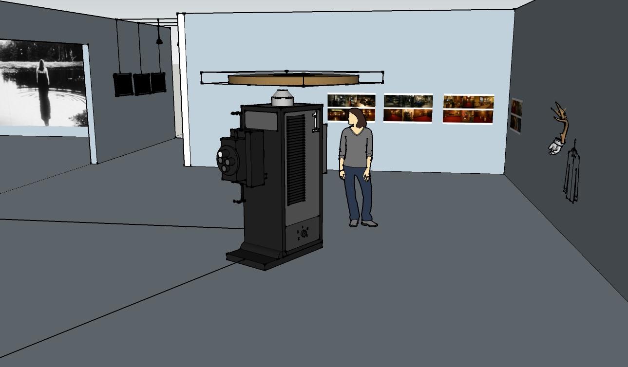 3D sketch up model for Land Lost installation