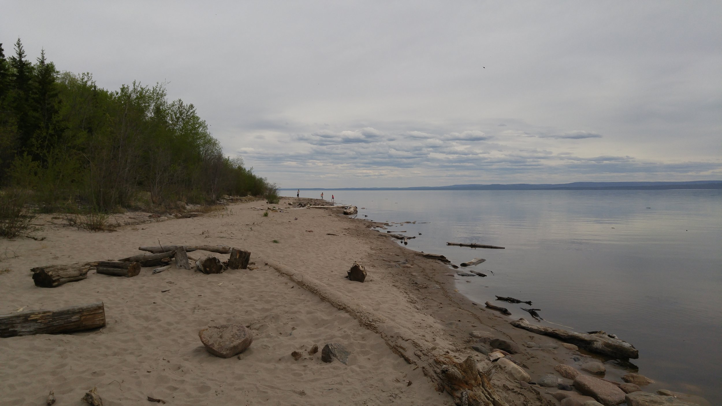Above: Beach at Lesser Slave Lake, AB where RFR broadcast received