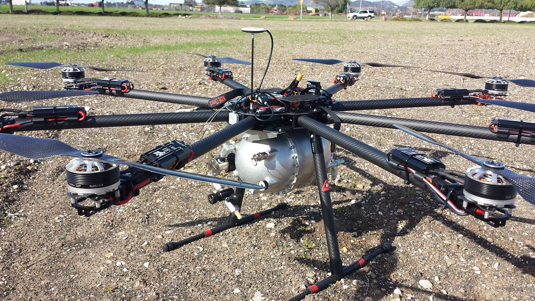 1 Gallon Tank Shown on an Octocopter
