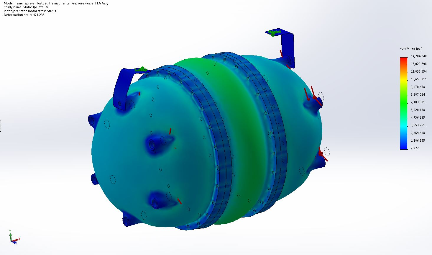 FEA Analysis of Pressure Vessel