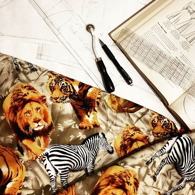 Excited to be leaving for a much needed adventure in Botswana in just 2 Days! Just enough time to make a dress!  #Botswana #nyc #fashion #design #designer #style #vacation #safari #travel #create #patterns