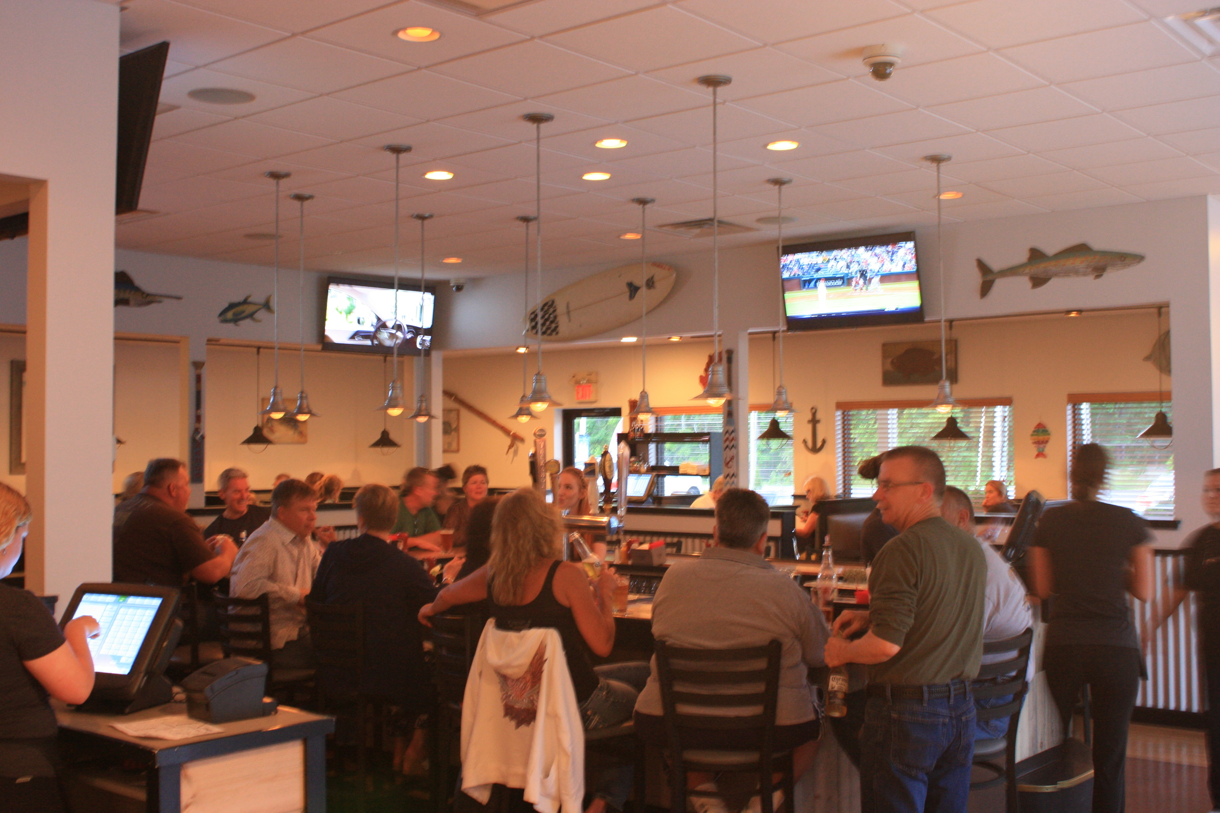 Our inside bar and cozy dining room. Come meet friends or find some new ones.