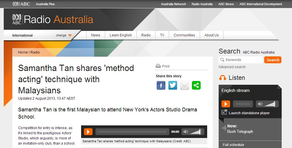 Radio Australia Sam Tan
