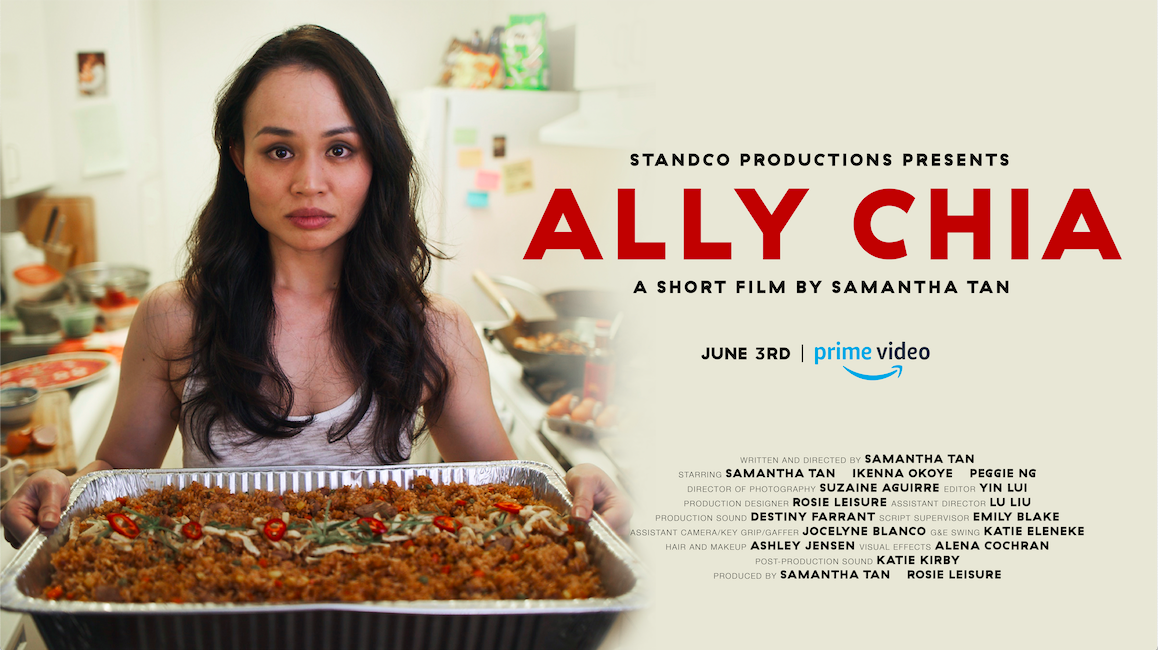 ALLY CHIA on Amazon Prime Video. Still by Suzaine Aguirre, poster design by Yoshie Hozumi.