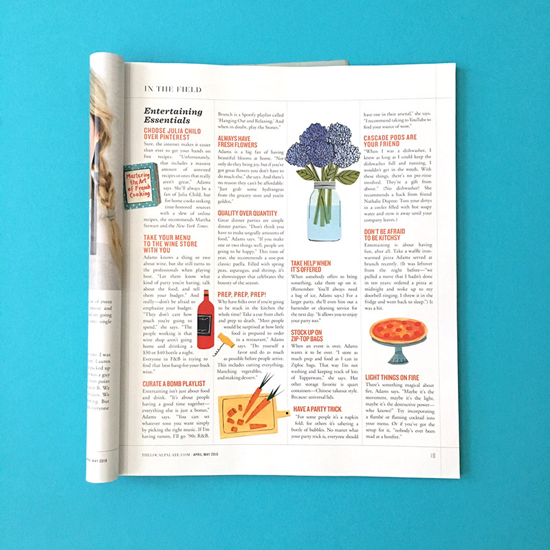 Spot Illustrations for Local Palate