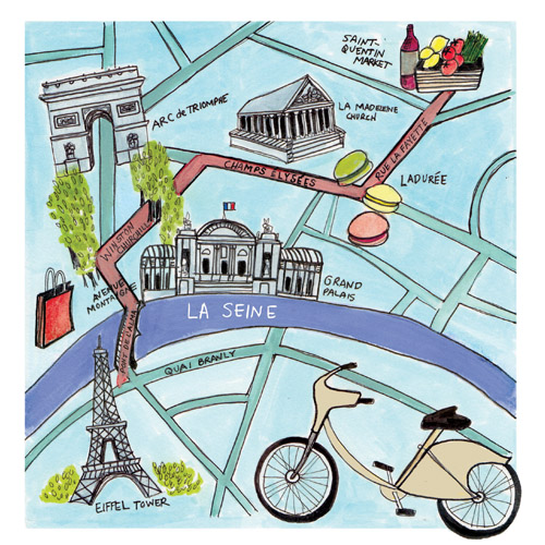 Paris Map for the Globe and Mail