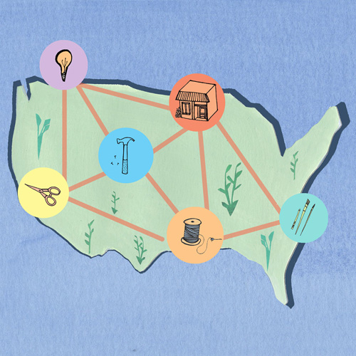 Maker's Map for West Elm