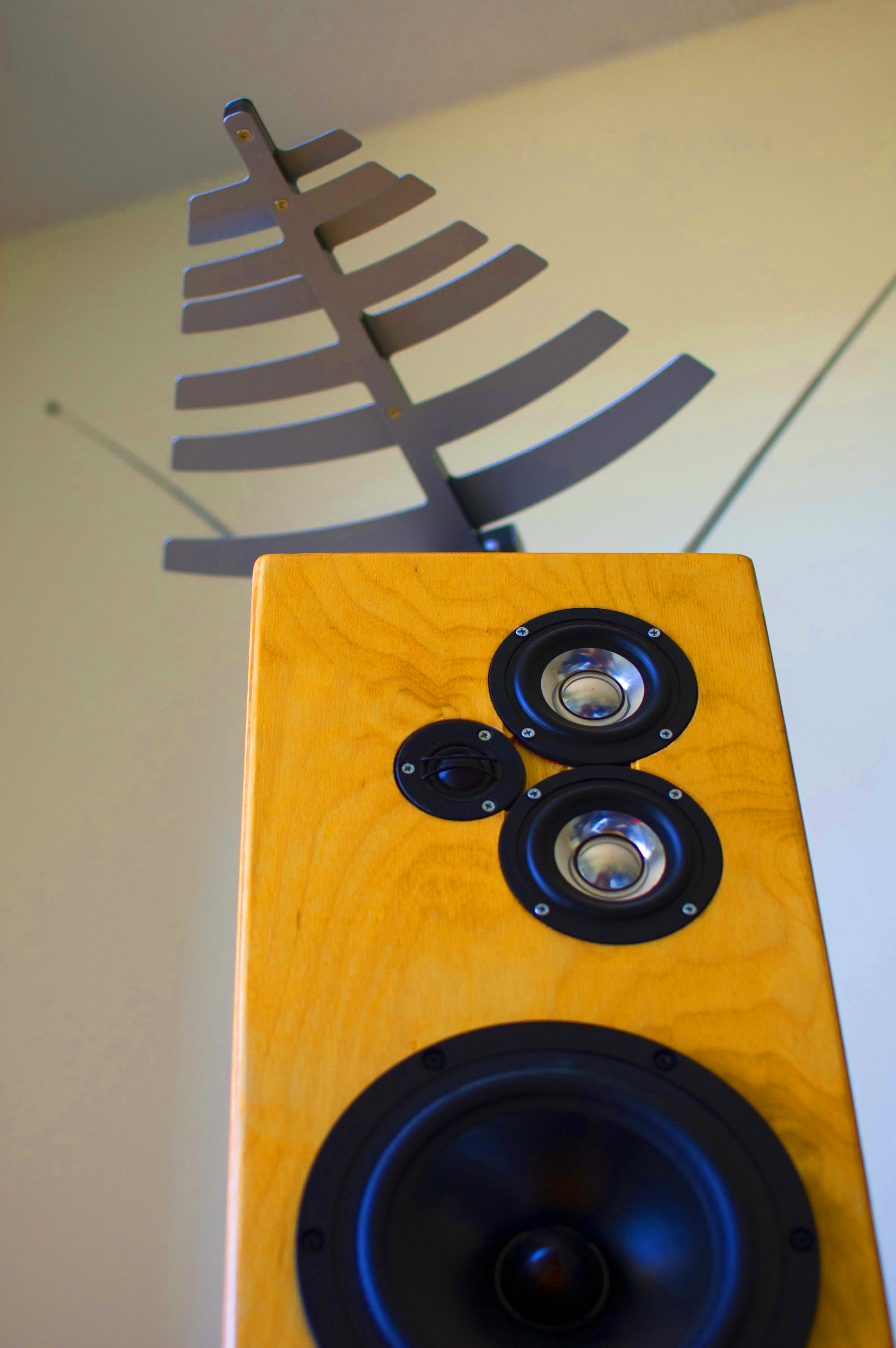 3-way monitor & TV antenna