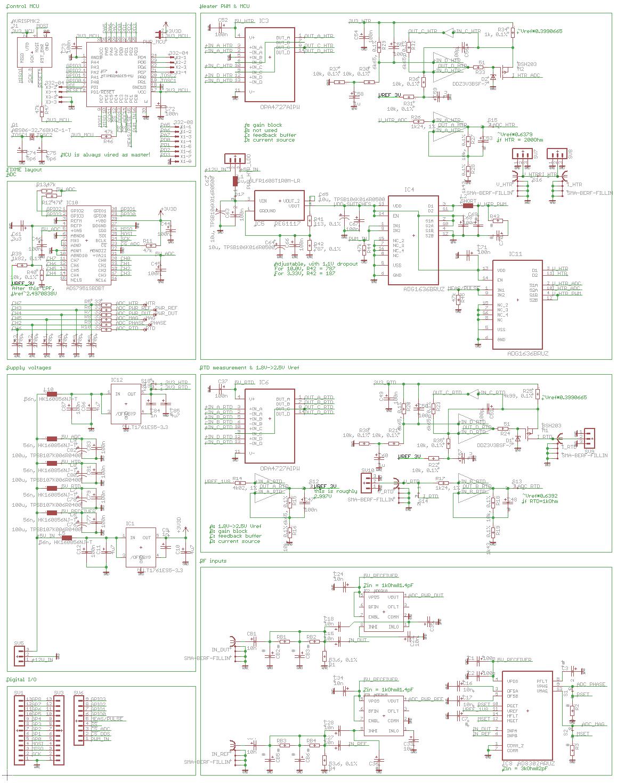 RF receiver board  - schematic