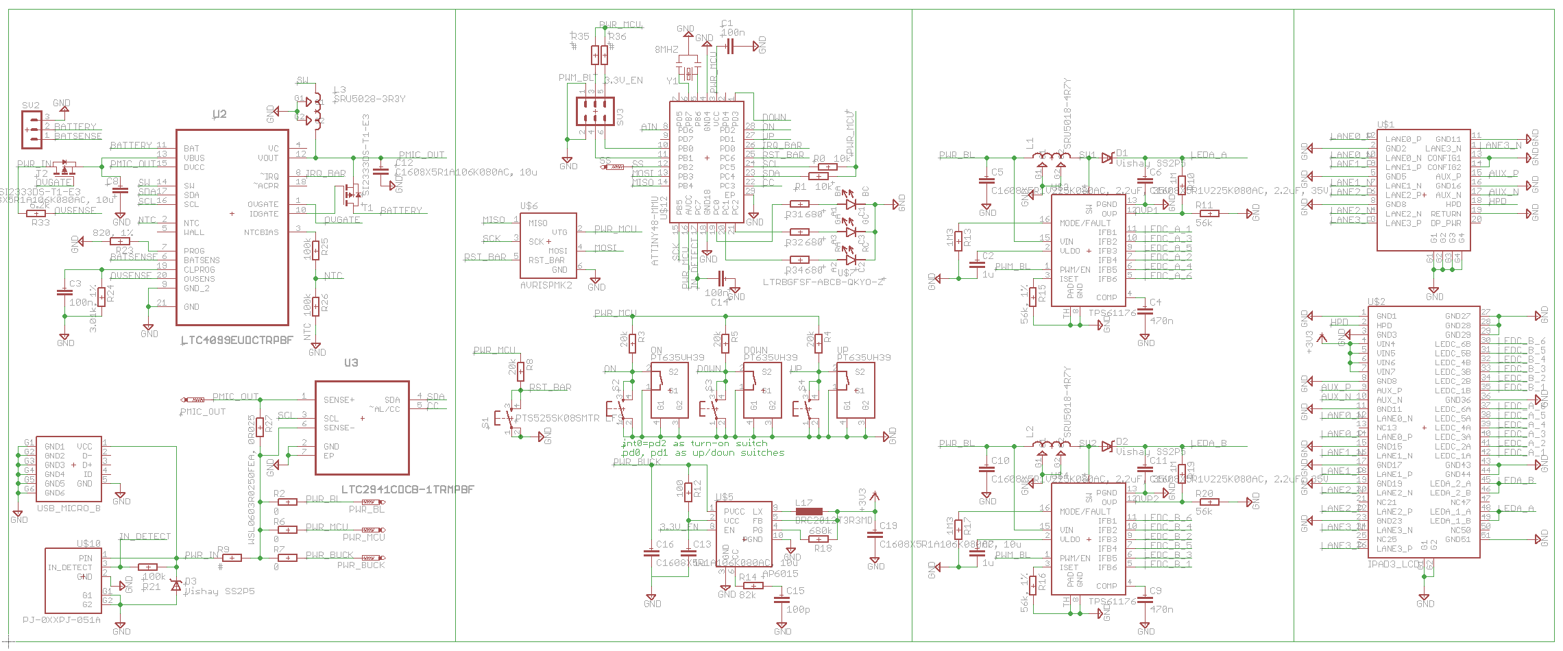 Retina iPad interface board, attempt #2 - schematic.