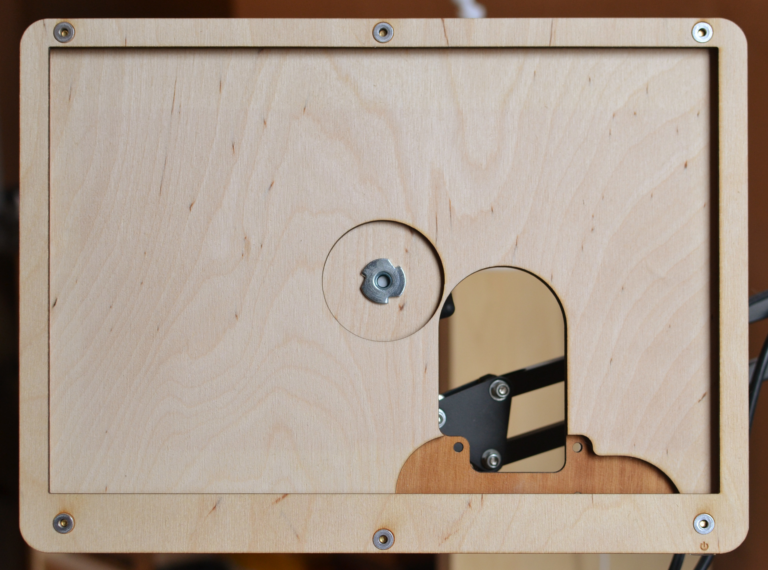 pretending-to-be-a-Shopbot prototype, front view. using  rivet nuts  instead of screws for a cleaner look.