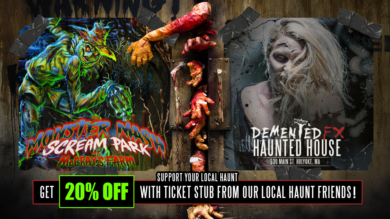 GET 20% OFF YOUR HAUNT TICKET WITH A TICKET STUB FROM McCRAYS FARM HAUNTED HAYRIDE