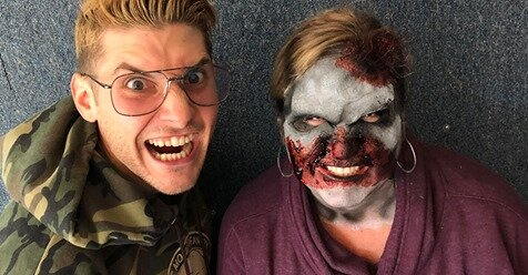 MIX 93-1 - DementedFX ZOMBIE MAKEOVER on Zeto and Kera