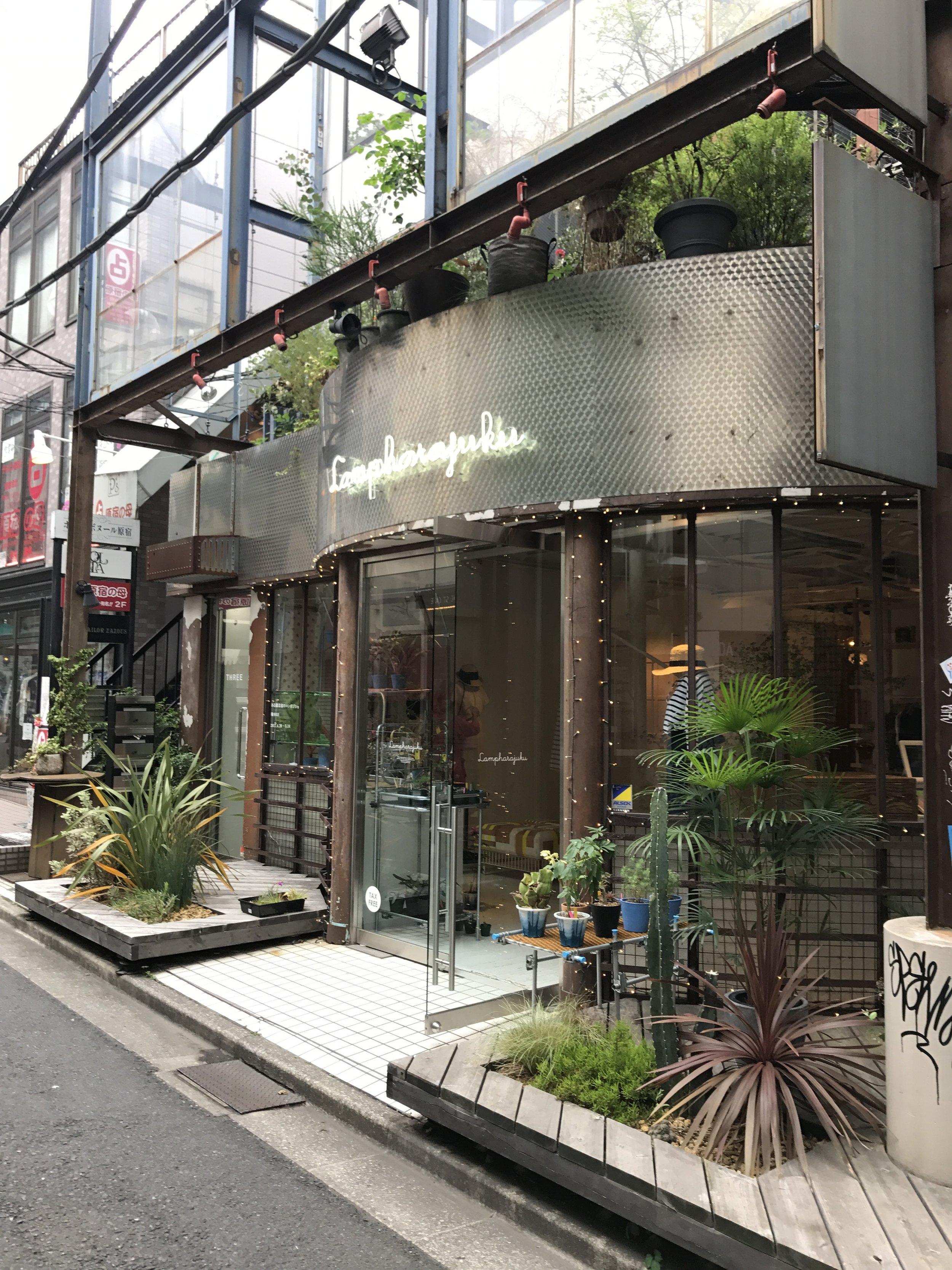 Harajuku storefronts