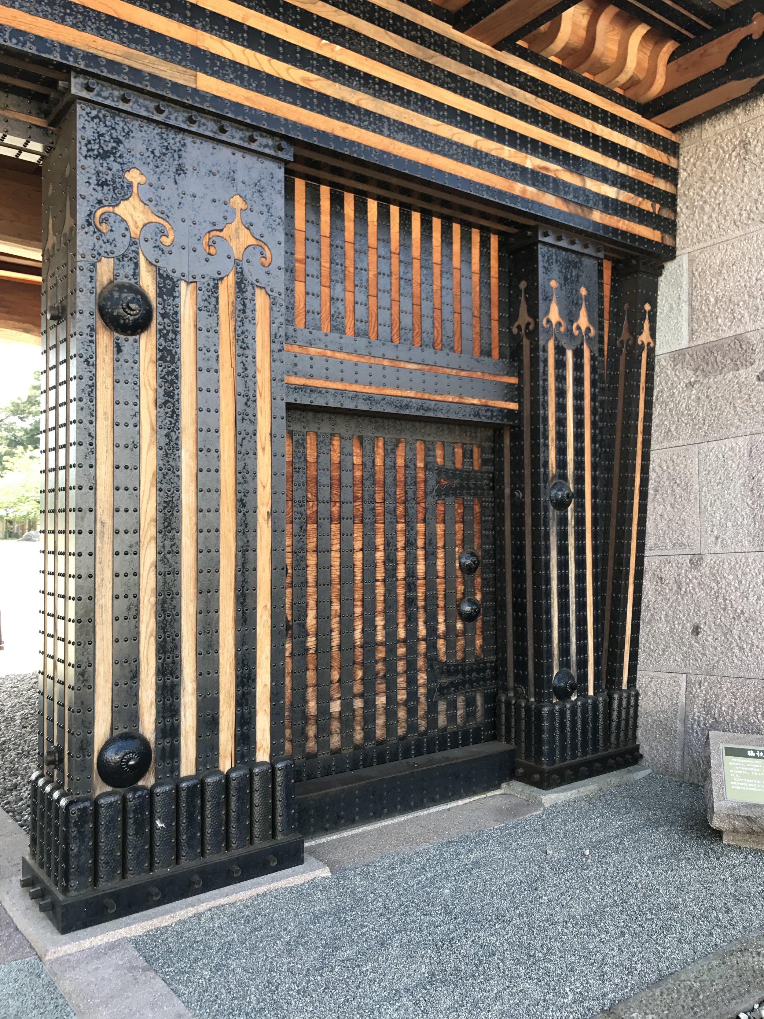 Detailed castle doors