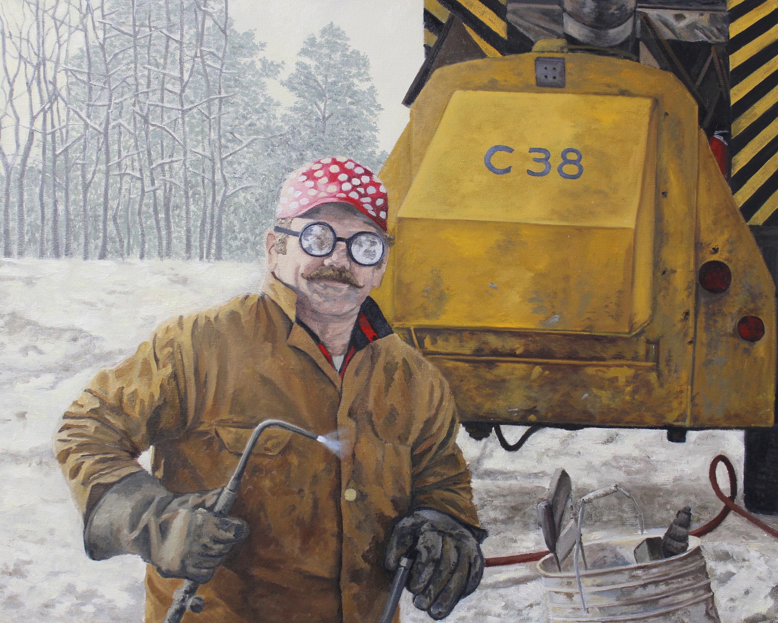 "The Bloke - 29.5"" x 23.5"" - Oil on Canvas - 2014 - Michael Burris Johnson"