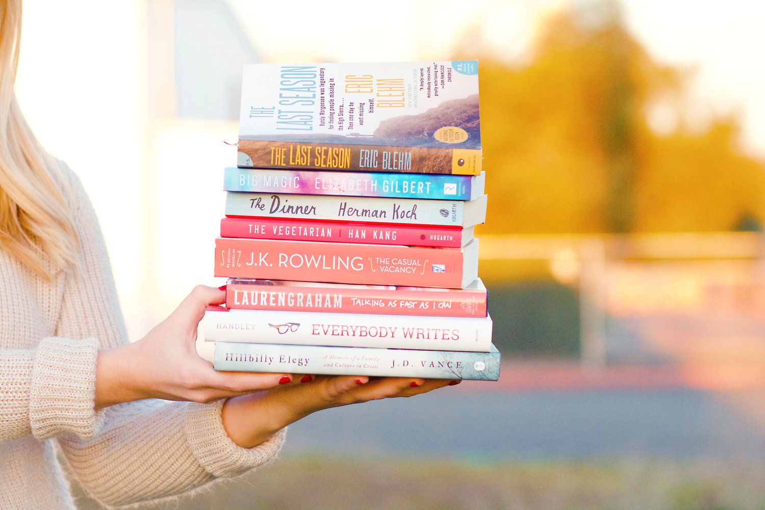 stack of books to read